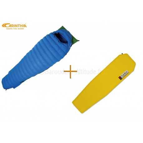 Sac de couchage ultra-léger Carinthia Airpack Ultra + Nemo Zor standard