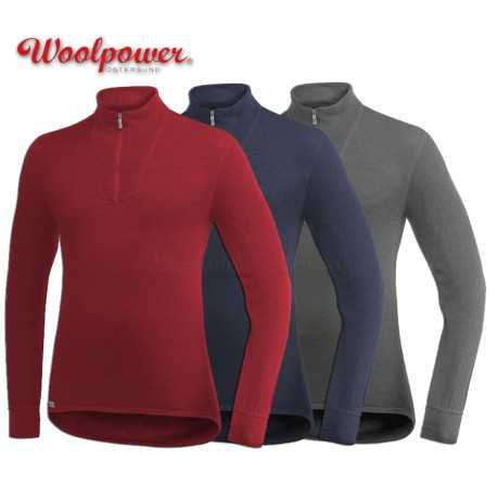Woolpower Zip Turtleneck 200 Ullfrotté couleur