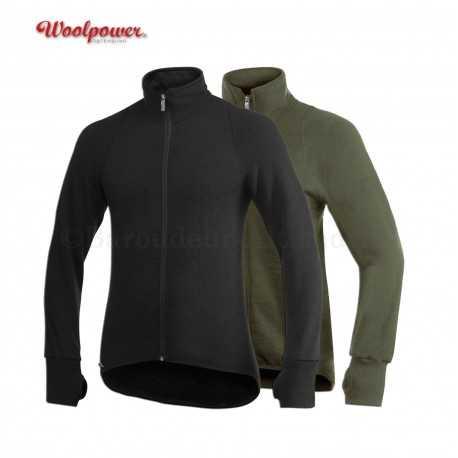 Veste 400 Ullfrotté / Woolpower noir vert